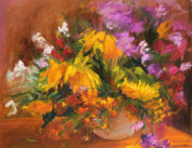 """Bunch with Sunflowers"" oil on canvas, 70 x 80, 2013"